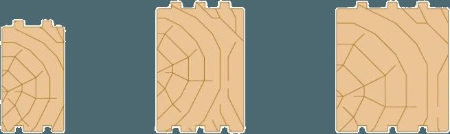 Fyrkantstimmer 3stockar
